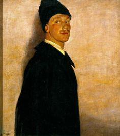 Glyn Philpot (English, The Man in Black, Oil on canvas, x cm. The sitter was Robert Allerton American collector and philanthropist. Modern Artists, New Artists, Tate Gallery, Renaissance Paintings, Charming Man, Portraits, Vintage Artwork, Art Uk, Black Art