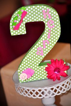 "Photo 13 of 35: Pink & green Ladybugs / Birthday ""Keira's 2nd Pink Ladybug birthday party!"" | Catch My Party"