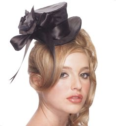 Satin Mini Top Hat - Cute mini style hats for a unique accent to any corresponding costume. This Satin Mini Top Hat - Adult Accessory includes, a black satin top hat with Top Hat Costume, Flower Costume, Black Costume, Ringmaster Costume, Star Costume, Costume Dress, Costumes Sexy Halloween, Halloween Costume Accessories, Spirit Halloween