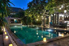 Bali Villa Photography - Residence Seminyak - pool views dusk lighting