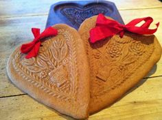 Gingerbread hearts made in old German wood mold. | Just because ...
