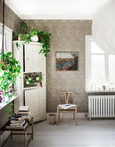 Would like to know what its called.ja fiilis kulmakaappi maalattuna :D Inspiration Wall, Interior Design Inspiration, Cottage Kitchens, Living Spaces, Living Room, Scandinavian Home, Interior Architecture, Home Furniture, Sweet Home