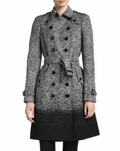 Degrade Herringbone Trenchcoat by Burberry London at Neiman Marcus.