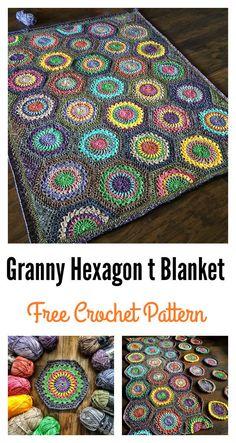 Free Granny Hexagon Burst Crochet Blanket Pattern