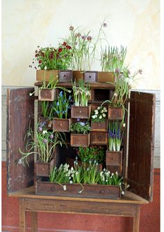 Ohh this looks like a fun way to use an old jewelry box