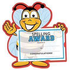 Spelling Bee Certificate Award Kit And Holder 8 5 X 5 5 10 Pk
