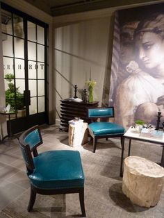 High Point furniture showroom/ Bernhardt/   I am crazy for these chairs!