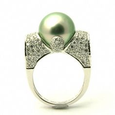 Green Pearl Ring