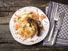 Hutspot met worst van Brandt & Levie en frisse bieslook Met smaakvolle jus Recept | HelloFresh