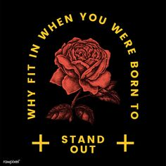 Stand out rose logo design vector Shirt Logo Design, Tee Design, Mode Choc, Design Kaos, Floral Logo, Graphic Design Posters, Grafik Design, Graphic Shirts, Apparel Design