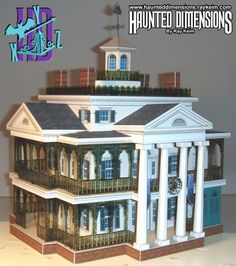 PAPER CRAFT: Disneyland New Orleans Haunted Mansion Model Design from heavy stock paper. The complete pattern & full directions are on this site. UNBELIEVABLY AWESOME!!!!!