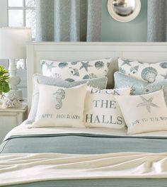 EA Holiday - Luxury Bedding Collections, Custom Bedding, Bed Linens - coastal tidings Collection