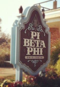 Wine and blue Pi Phi sign #piphi #pibetaphi