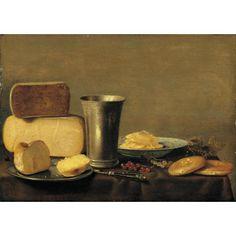 Floris Gerritsz van Schooten, Still Life of Cheese, 17th century.  Looks delicious.