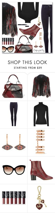 """Outfit of the Day"" by dressedbyrose ❤ liked on Polyvore featuring Proenza Schouler, Dolce&Gabbana, 7 For All Mankind, Michael Kors, Ileana Makri, Repossi, Italia Independent, Étoile Isabel Marant, Petit Bateau and MICHAEL Michael Kors"