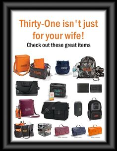 Thirty One Gift Ideas for Men!  Need a   catalog or wanna host an online party? Contact me by clicking through the   image!