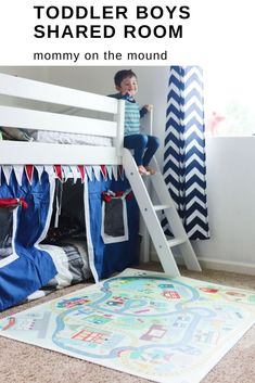 Find out what our favorite products are for our toddler boys shared bedroom! These brothers absolutely love sharing a room! It saves us space and teaches them to share and get along!!