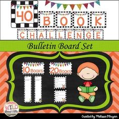 In The Book Whisperer, Donalyn Miller challenges her students to read 40 books a… 40 Book Challenge, Book Whisperer, 4th Grade Ela, Accelerated Reader, Create This Book, Independent Reading, Classroom Setting, Free Books, Bulletin Boards
