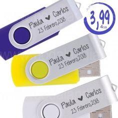 Memoria USB 4GB. Pendrive personalizado. Presentado en estuche