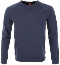 HUGO BOSS Orange Mens 'Wheeler' Crew Neck Sweater Sweatshirt Blue Small NWT $155…