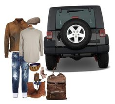 """""""field and stream"""" by reeseo-hmd ❤ liked on Polyvore featuring Polo Ralph Lauren, Dsquared2, Stetson, MCM, Rolex, River Island, Wrangler, Giorgio Brato, men's fashion and menswear"""