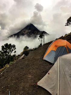Camping near Fuego just outside Antigua Guatemala. - alterego87 - #nature #travel #landscape