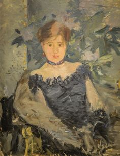 alongtimealone:  Berthe Morisot - le Crosage Noir (The Black Corsage), 1878 at National Gallery of Ireland - Dublin Ireland (by mbell1975)