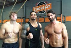 Roman Reigns, Dean Ambrose, and Seth Rollins preferences. How about we all just forget about Seth stabbing Dean and Roman in the back? Roman Reigns Workout, Wwe Roman Reigns, Roman Reigns Shirtless, Apocalypse, Wwe Funny, Bae, Fitness Motivation, The Shield Wwe, Roman Reings