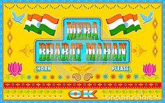 Mera Bharat Mahan in truck paint style