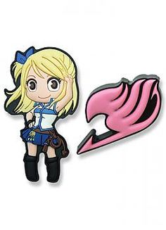 Fairy Tail Pins - Lucy and Fairy Tail Guild Insignia (Set of 2)