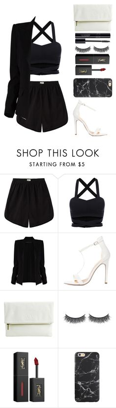 """""""Untitled #115"""" by nglmfrryln ❤ liked on Polyvore featuring Base Range, Alexandre Vauthier, Armani Exchange, Battington and Yves Saint Laurent"""