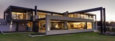 Uniquely Framed Ber House in Midrand, South Africa by Nico van der Meulen Architects