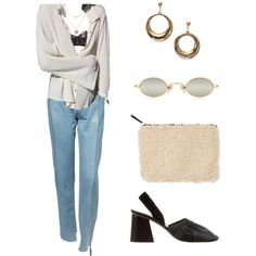 A fashion look from February 2018 featuring blue high waisted jeans, la perla lingerie and ballerina flat shoes. Browse and shop related looks. Retro Outfits, Trendy Outfits, Cute Outfits, Fashion Outfits, Womens Fashion, Thrift Fashion, Polyvore Outfits, Aesthetic Clothes, Streetwear Fashion