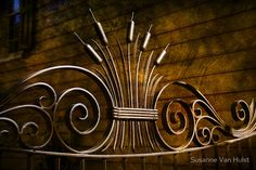 Amazing iron work on Charleston houses. They are world known for their artful black smith works on doors, gates and fences. / Captured in down town Charleston, SC. • Buy this artwork on home decor, stationery, bags y more.