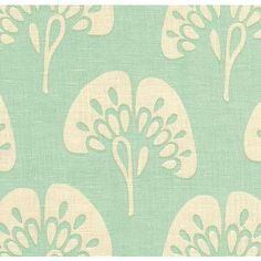 Aqua Ginkgo Fabric from Company C