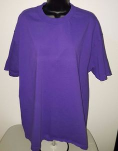 Alstyle Apparel Men's Purple Short Sleeve T-Shit Size XL #AlstyleApparel #BasicTee