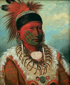 George Catlin: White Cloud, Head Chief of the Iowas, 1844/45