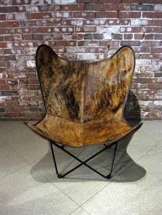 BKF chair in light brown brindle cowhide.