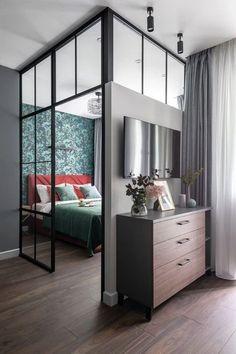Studio Apartment Living, Small Apartment Interior, Small House Interior Design, Condo Interior, Small Apartment Design, Decor Home Living Room, Apartment Layout, Condo Living, Dream Apartment