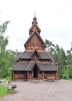 Norwegian FOLK MUSEUM in Oslo, Norway. A wonderful outdoor museum many old Norse buildings brought together.