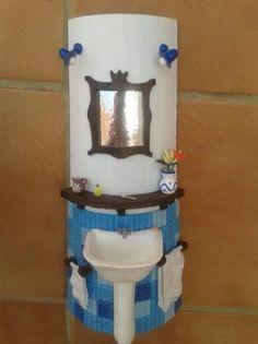 baño en miniatura con cosas recicladas - Buscar con Google