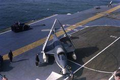 Hawker Seahawk of aboard HMS Centaur in The Gulf of Aden 1959 Military Jets, Military Aircraft, Capital Ship, Experimental Aircraft, Navy Aircraft, Aircraft Design, Flight Deck, Centaur, Royal Air Force