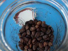 Mason jar filled with CR coffee
