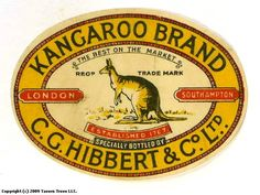 This was a label for a type of beer -Stout. This English brewery that sold beer to Shipping Companies. Like the Titanic! Lot of beers went down that night. Beer Labels, Australian Art, Titanic, Brewery, Vintage Posters, Kangaroo, Tee Shirts, English, Type