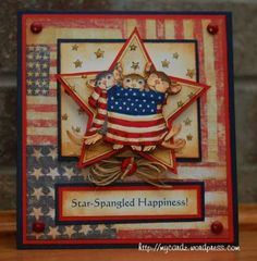 House Mouse Challenge ~ Red, White & Blue by mbg10001 - Cards and Paper Crafts at Splitcoaststampers
