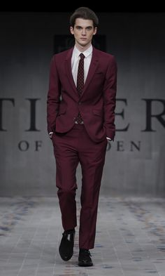 Purple suits are also very suitable for business-occasions.  Men - Tiger of Sweden