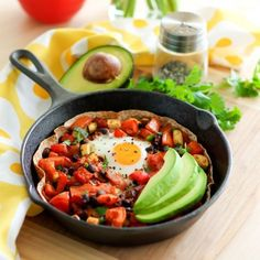 Huevos Rancheros Skillet - a perfect item for your lazy Sunday brunch menu.