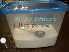 Homemade Dish Detergent-trying it tonight!