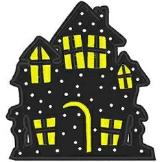 Haunted House Applique - 3 Sizes! | Halloween | Machine Embroidery Designs | SWAKembroidery.com Bella Marie Boutique