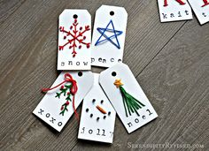 Christmas Holiday Personalized Monogram Gift Tag Craft - Fox Hollow Cottage